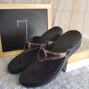 Crocs Black Sandals Size 7